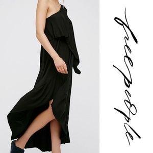 Free People Carynne Black Jersey Maxi Dress Medium
